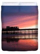 Hastings Pier - Purple Duvet Cover