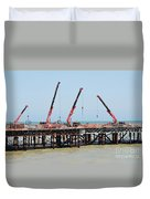 Hastings Pier, England Duvet Cover