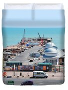 Hastings Pier Rebuild Duvet Cover