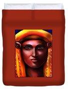 Hathor- The Goddess Duvet Cover by Carmen Cordova
