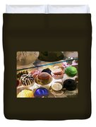Hats In A Row Duvet Cover