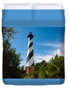 Hatteras Lighthouse Standing Guard Duvet Cover