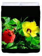 Hau Tree Blossoms Duvet Cover