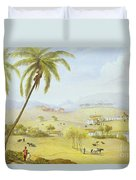 Haughton Court - Hanover Jamaica Duvet Cover by James Hakewill