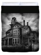 Haunted - Flemington Nj - Spooky Town Duvet Cover