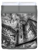 Haunted Church In Black And White Duvet Cover