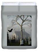 Haunted Halloween Cemetery Duvet Cover