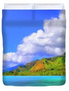Hauru Point Moorea Duvet Cover
