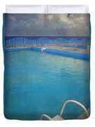 Havana Cuba Swimming Pool And Ocean Duvet Cover