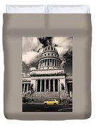 Havana El Capitolio Duvet Cover