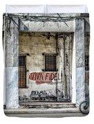 Havana Graffiti Street Scene Duvet Cover by Gigi Ebert