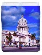 Havana National Capitol Duvet Cover