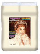 Have Your Portrait Painted Contact Carole Spandau 30 Years Experience Duvet Cover
