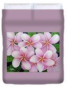 Hawaii An Tropical Plumeria Flower #338 Duvet Cover
