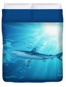 Hawaii Galapagos Shark Duvet Cover