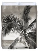 Hawaii Ocean Palm Duvet Cover