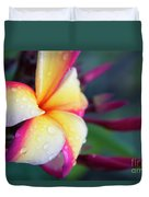 Hawaii Plumeria Flower Jewels Duvet Cover