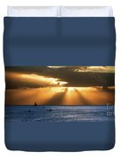 Hawaii Sunset Panorama Duvet Cover