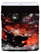 Hawaii Swimming Crab Duvet Cover
