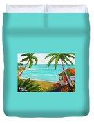 Hawaii Tropical Beach Art Prints Painting #418 Duvet Cover
