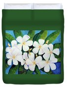 Hawaii Tropical Plumeria Flower  # 220 Duvet Cover