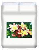 Hawaii Tropical Plumeria Flower #205 Duvet Cover