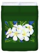 Hawaii Tropical Plumeria Flower  #208 Duvet Cover
