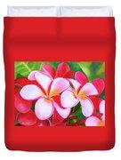 Hawaii Tropical Plumeria Flower #212 Duvet Cover