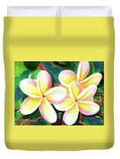 Hawaii Tropical Plumeria Flower #213 Duvet Cover