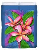 Hawaii Tropical Plumeria Flower #243 Duvet Cover