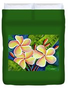 Hawaii Tropical Plumeria  Flower #314 Duvet Cover