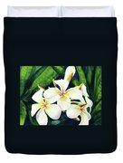 Hawaii Tropical Plumeria Flowers #160 Duvet Cover