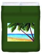 Hawaiian Beach Palm Trees  #425 Duvet Cover