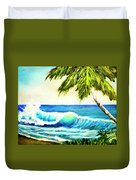 Hawaiian Beach Wave #420 Duvet Cover