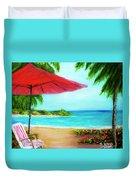Hawaiian Beach Wave Art Print Painting #441 Duvet Cover