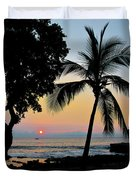Hawaiian Big Island Sunset  Kailua Kona  Big Island  Hawaii Duvet Cover