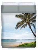 Hawaiian Boy Fishing Duvet Cover
