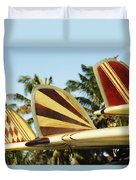 Hawaiian Design Surfboards Duvet Cover by Vince Cavataio - Printscapes
