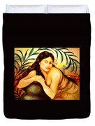 Hawaiian Girl Duvet Cover