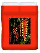 Hawaiian Heliconia Duvet Cover