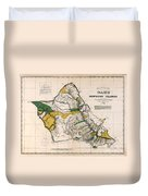 Hawaiian  Islands Map 1881 Duvet Cover