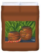 Hawaiian Koa Wooden Bowls #426 Duvet Cover