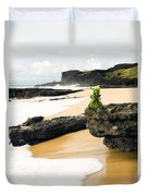 Hawaiian Offering On Beach Duvet Cover