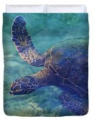 Hawaiian Sea Turtle Duvet Cover