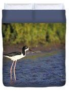 Hawaiian Stilt Bird In Water Duvet Cover