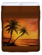 Hawaiian Sunset #380 Duvet Cover