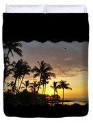 Hawaiian Sunset Design Duvet Cover