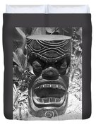 Hawaiian Tiki God Ku Duvet Cover
