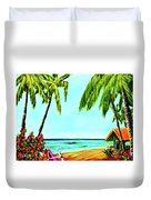 Hawaiian Tropical Beach #367  Duvet Cover