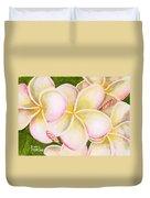Hawaiian Tropical Plumeria Flower #483 Duvet Cover